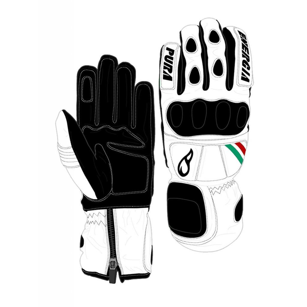 Energiapura Slalom Leather Gloves with Protectors W/Prot