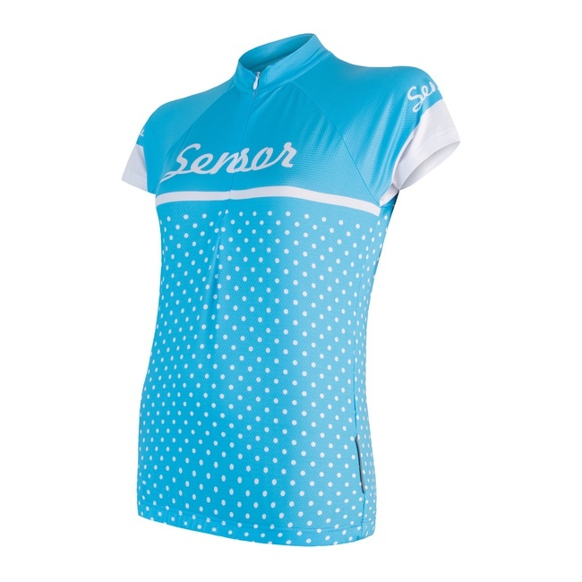 Sensor Cyklo Dots Women's Jersey Short Sleeves