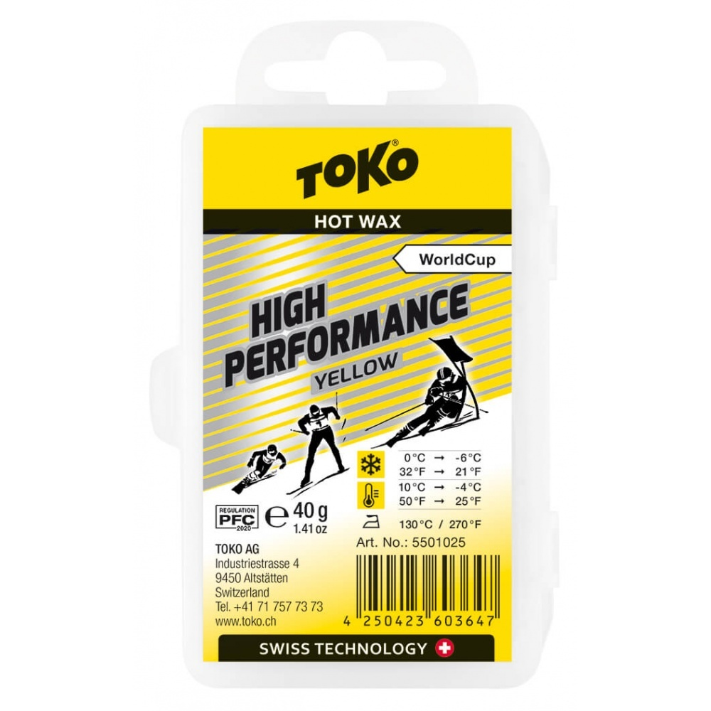 Toko High Performance Hot Wax yellow 40g