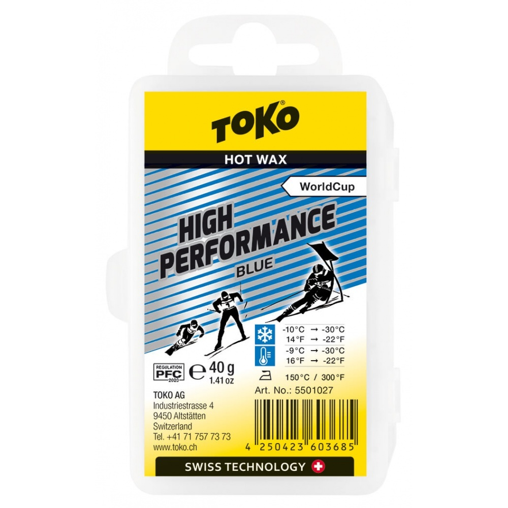 Toko High Performance Hot Wax Blue 40g